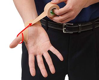 テーピング 指 突き指