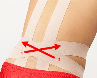 腰 : 腰に痛む箇所がある時 | テーピング 巻き方 | バトルウィン™